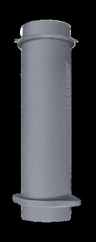 Чугунная ВЕРХНЯЯ труба для шибера 130/500мм