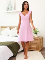 Мамаландия. Сорочка для беременных и кормящих на кнопках, сердечки/розовый
