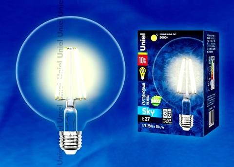 Uniel Лампа LED-G125-10W/WW/E27/CL Sky глоб !