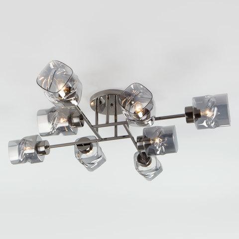 Потолочная люстра со стеклянными плафонами 30165/8 черный жемчуг