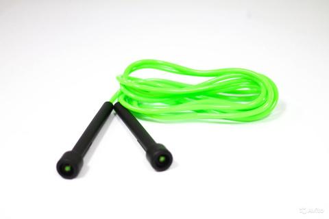 OC-1-WF08730 Скакалка Prime Fit (ручки пластик., трос ПВХ, зеленая)