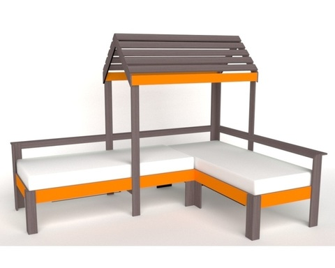 Кровать АВАРА-3 с крышей левая