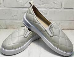 Стеганые балетки на толстой подошве Alpino 21YA-Y2859 Cream.
