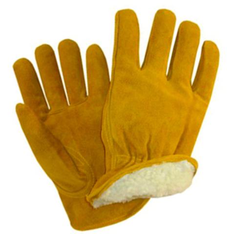 Утепленные спилковые перчатки ДРАЙВЕР