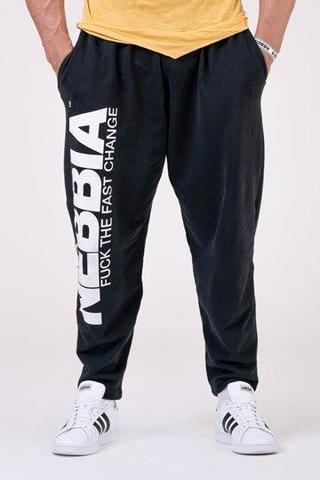 Штаны NEBBIA Beast Mode On iconic sweatpants 186 BLACK
