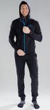 Костюм спортивный Nordski Zip Hood Cuffed Black-Blue мужской