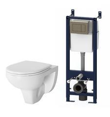 IS374A1738 Комплект инсталляция с клав глянц хром с подвесным унитазом Sense с сиденьем микролифт