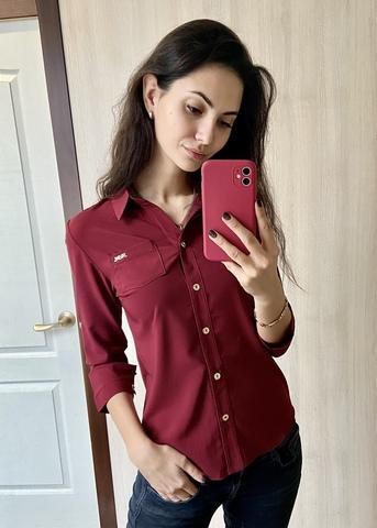 Льоля. Класична сорочка. Бордо