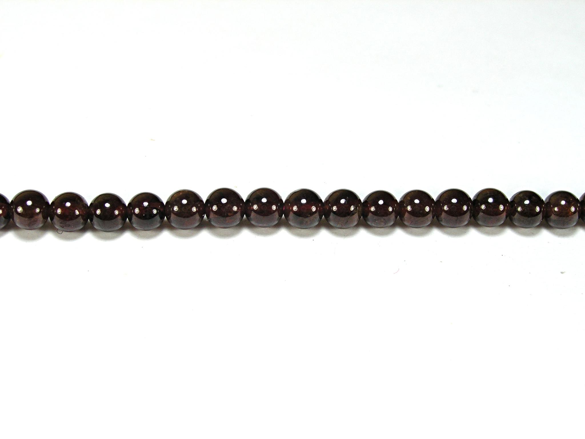 Бусина из граната (альмандина), шар гладкий 4мм