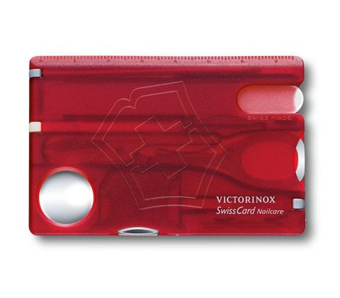 Швейцарская карта Victorinox SwissCard Nailcare Red (0.7240.T) красная полупрозрачная - Wenger-Victorinox.Ru