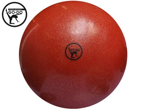Мяч GO DO для художественной гимнастики. Диаметр 19 см. Цвет красный имитация