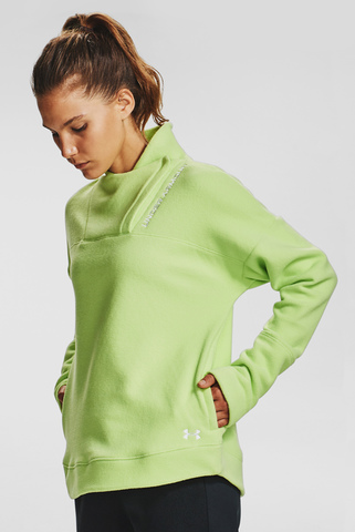 Женский салатовый свитшот Recover Fleece Wrap Neck Under Armour