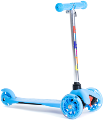 Трехколесный самокат для детей, материал - металл/пластик BIBITU  JAY SKL-06L, голубой