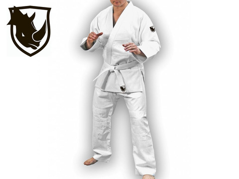 Кимоно дзюдо RHINO. Цвет белый. Размер 28-30. Рост 125.