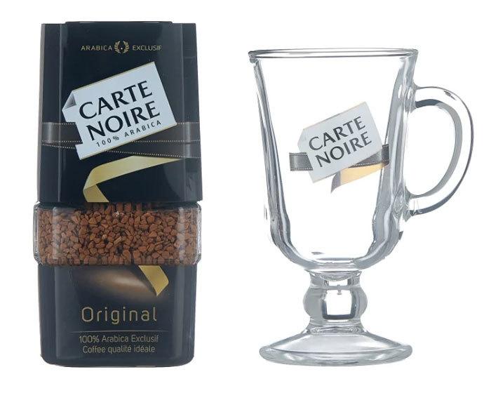 цена подарочный набор кофе растворимый Carte Noire Original с чашкой