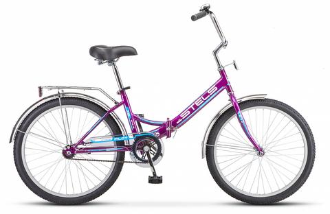 Складной велосипед Stels Pilot-710 малиновый