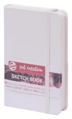 Скетчбук для смешанных техник Art Creation 160г/кв.м 9х14 см 80л твердая обложка белый