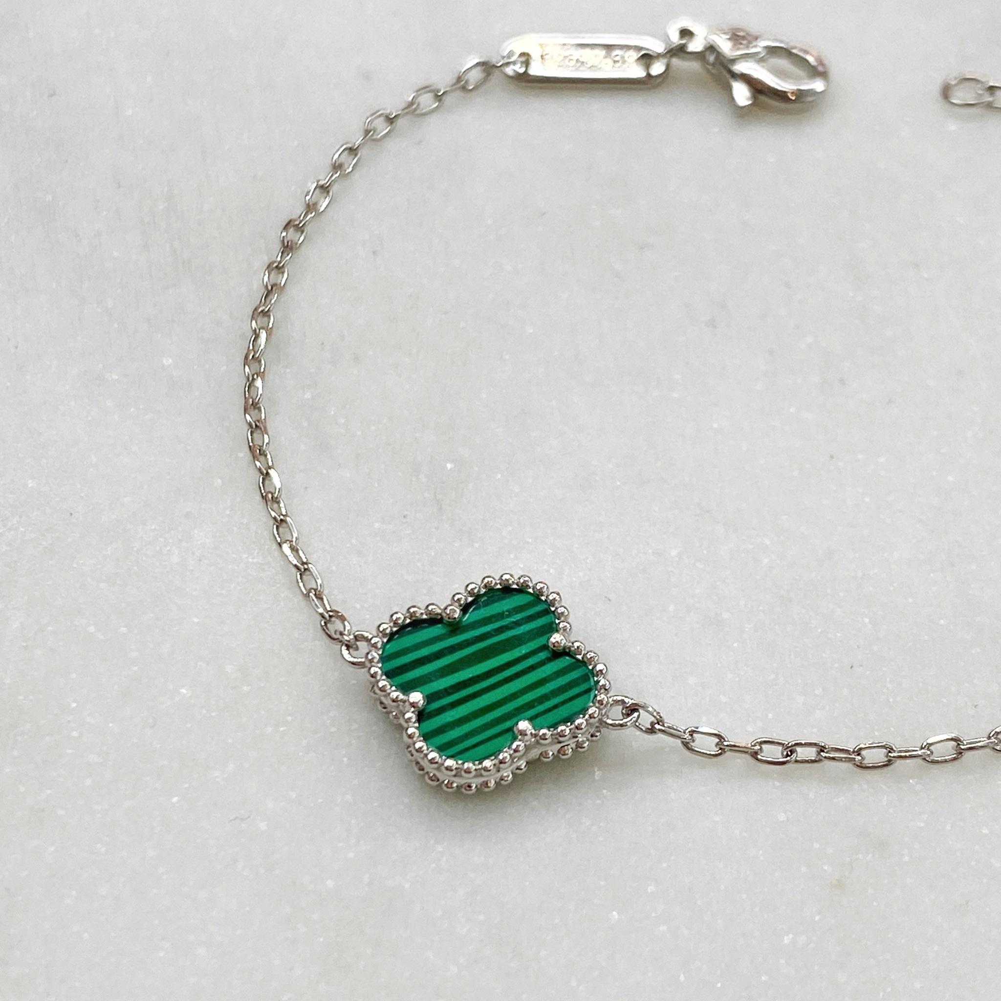 Браслет Клевер (зеленый)