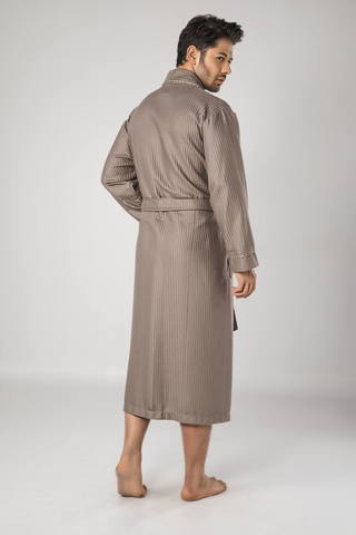 Вафельный мужской халат 12680 бежевый  NUSA Турция