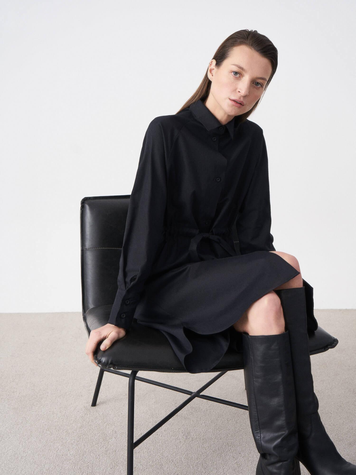 Платье-рубашка Flavia с широкой кулиской