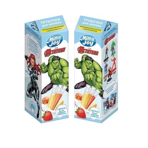 MILKY JOY DISNEY MARVEL Трубочки для молока  1кор*8бл*5шт, 18г.