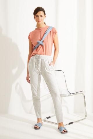 Сірі штани-джоггери з бавовни