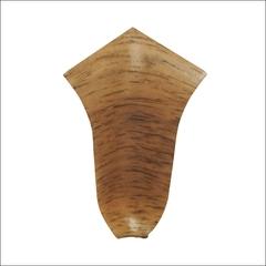 Угол внутренний для плинтуса ПВХ T-Plast (68 мм) Орех светлый