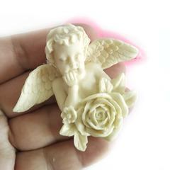 0722 Молд силиконовый. Ангел с розой.