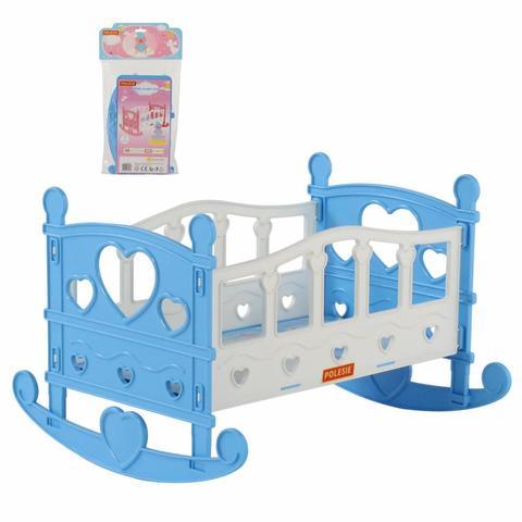 Кроватка-качалка для кукол №2, сборная, 7 элементов (в пакете), 62062