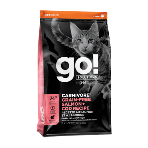 Go! Carnivore Сухой корм для кошек и котят с лососем и треской (беззерновой)