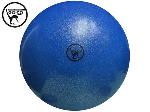Мяч GO DO для художественной гимнастики. Диаметр 19 см. Цвет синий имитация