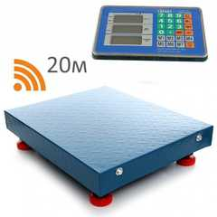 Весы торговые беспроводные ГАРАНТ ВПН-150УБ, LCD, АКБ, bluetooth (блютуз), 150кг, 50гр, 400*300, усиленные, платформенные