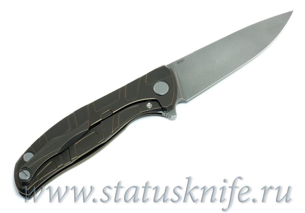 Нож Широгоров Флиппер 95 M390 S узор T подшипники - фотография