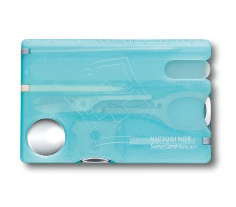 Швейцарская карта Victorinox SwissCard Nailcare Ice-Blue (0.7240.T21) голубая полупрозрачная - Wenger-Victorinox.Ru