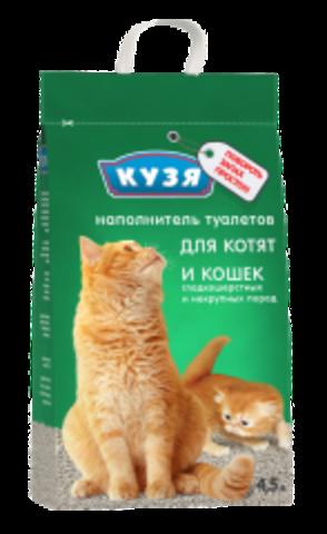 КУЗЯ наполнитель впитывающий для котят 4,5 л.