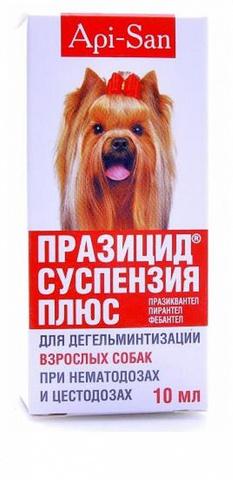 ПРАЗИЦИД СУСПЕНЗИЯ ПЛЮС – антигельминтик для взрослых собак