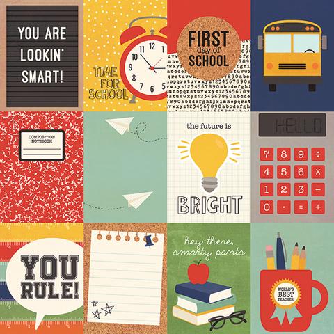 Лист двусторонней бумаги 30х 30 см -Simple Stories  School Rocks!-3
