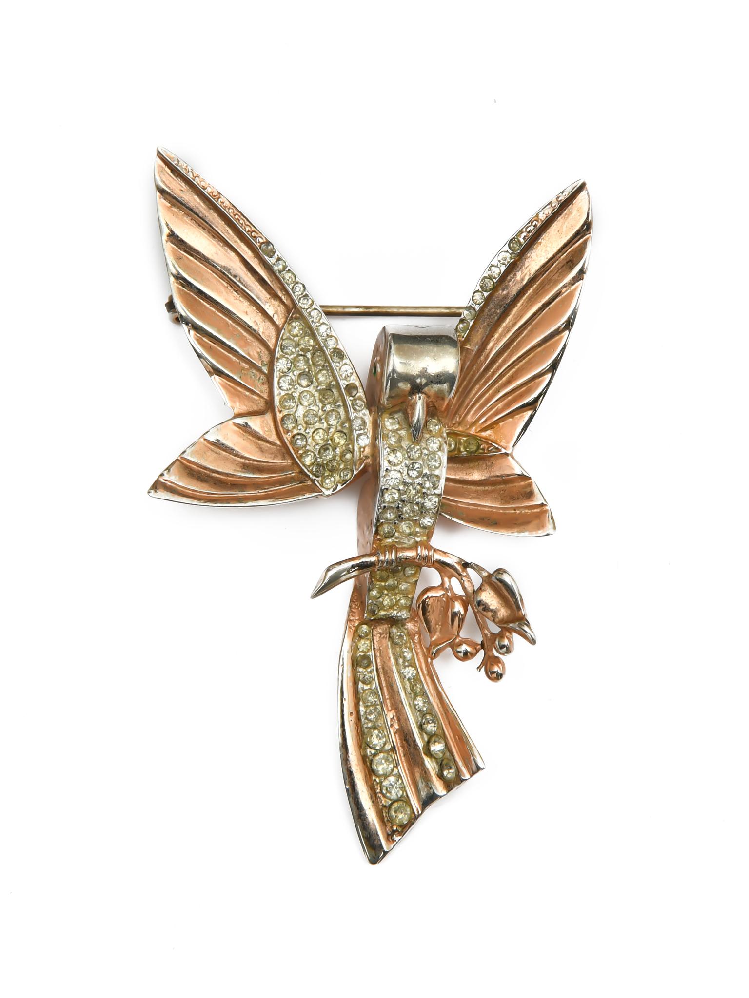 Брошь Coro «Птица» 1940-е