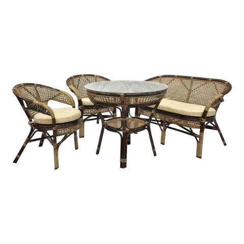 Комплект обеденный JAVA-3 (стол + 2 кресла + диван)