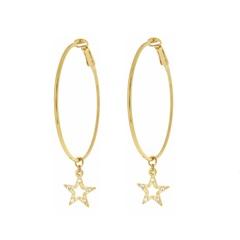Серьги Karpinski Кольца со звездочкой в золотом покрытием