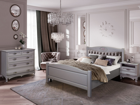 Спальня Оскар темно-серый