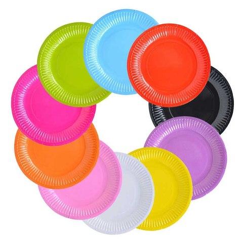 Тарелка однотонная 17см 8шт (цвет на выбор)