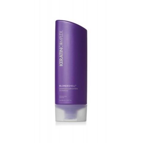 Keratin Complex Blondesshell: Шампунь корректирующий для осветленных и седых волос (Shampoo Debrass & Brighten Formula), 400мл/1000мл