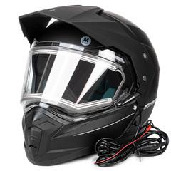 Мотошлем с подогревом MT Duo Sport, чёрный матовый