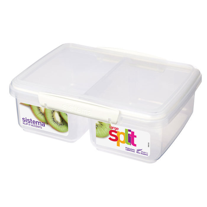 """Контейнер пищевой Sistema """"KLIP IT"""", двойной, 2 л, цвет Белый"""