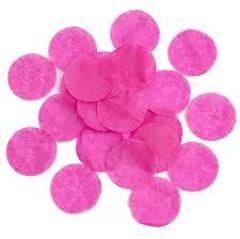 Конфетти тишью, Круги, Темно-розовый (Фуксия), 1,5 см, 25гр.