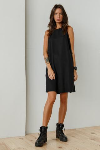 Платье мини без рукавов, черный