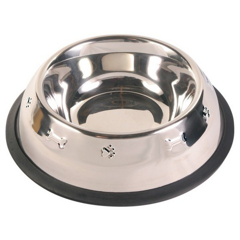 1552-3202 ТРИОЛ Миска метал.на резинке с чеканкой 0,25л  *12