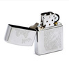 Зажигалка Zippo Wolf с покрытием Brushed Chrome, латунь/сталь, серебристая, матовая, 36x12x56 м