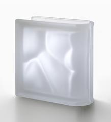 Торцевой стеклоблок матовый бесцветный волна Vetroarredo Neutro TER Lineare O SAT 19x19x8